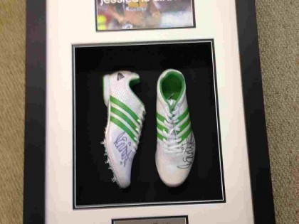 Jessica Ennis Framed Running Spikes