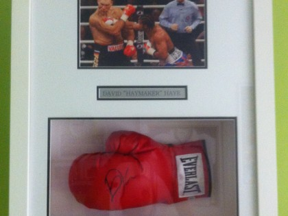 David Haye Framed Boxing Glove