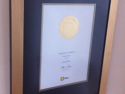 Framed Certificate 2