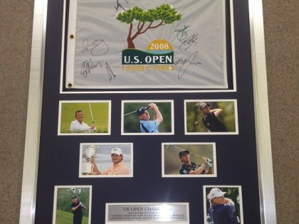 Golf US Open Signed Flag