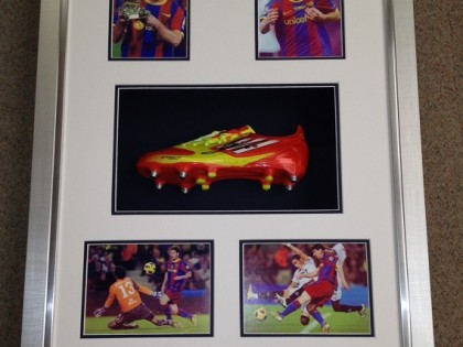 Messi Boot Framed