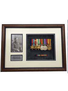 court mounted military medal framing