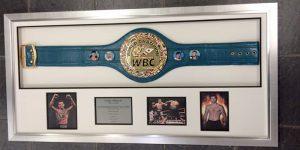 boxing memorabilia framing leeds