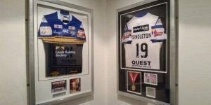 Football shirt framing leeds