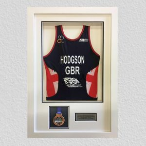 running vest & medal framing leeds
