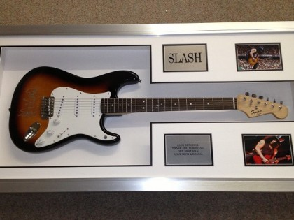 Slash Framed Guitar